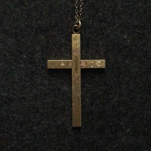 Jewelry - ✨BOGO: Vintage gold plated cross necklace ✨
